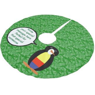 Kolumbianischer Feiertags-Herr Penguin Polyester Weihnachtsbaumdecke
