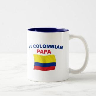 Kolumbianischer Papa #1 Zweifarbige Tasse