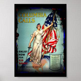 """Kolumbien-Anrufe, """"tragen jetzt ein! """" Poster"""