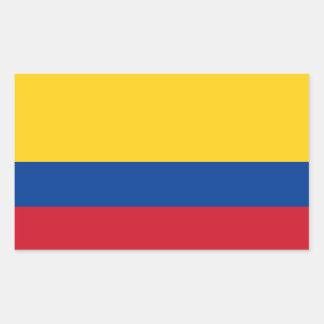Kolumbien-Flagge Rechteckiger Aufkleber