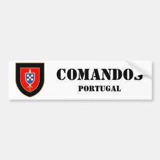 Kommandos Portugal Autoaufkleber