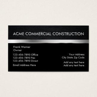 Kommerzielle Bau-Kontakt-Karten Visitenkarte