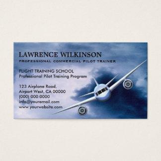 Kommerzielles Flugzeug in den Visitenkarten