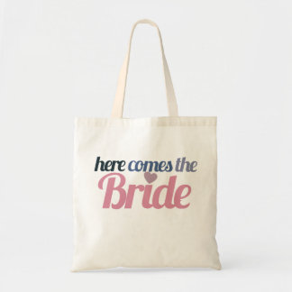 Kommt hier die Braut Budget Stoffbeutel