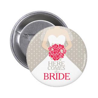 Kommt hier die Braut-Probe, die roten Knopf Runder Button 5,7 Cm