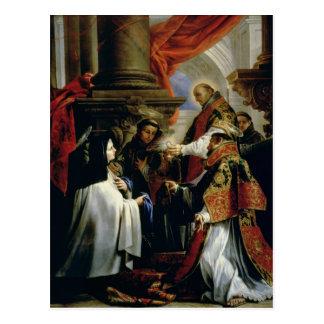 Kommunion von St Teresa von Avila c.1670 Postkarte