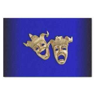 Komödien-und Tragödie-Theater-Masken-Kobalt Seidenpapier