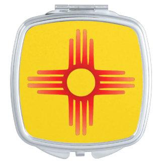Kompakter Spiegel New Mexiko-Zias Sun Taschenspiegel