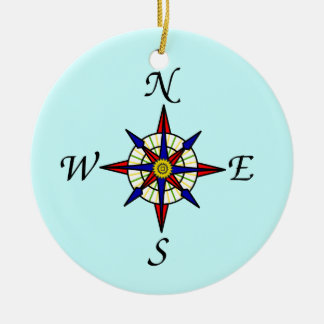 Kompass-Rosen-Baum-Verzierung Keramik Ornament