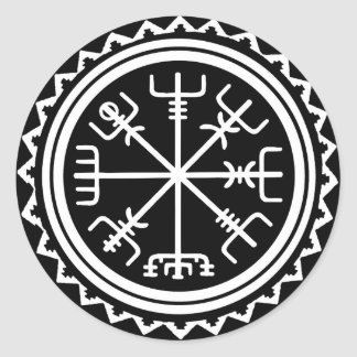 Kompass Vikings Vegvisir Runder Aufkleber