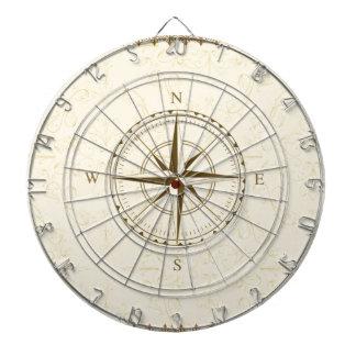 KompassVintager Südwestosten Dartscheibe