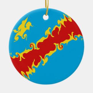 Kongo-Kinshasa Gnarly Flagge Ornamente