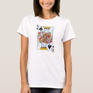 König der Spaten beunruhigt/der Vintagen Art T-Shirt