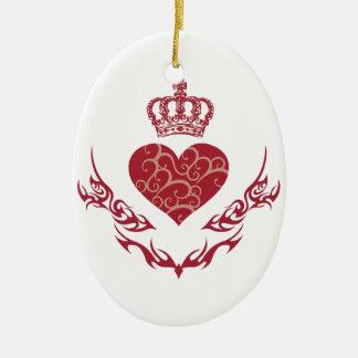 König des Herzens Ovales Keramik Ornament