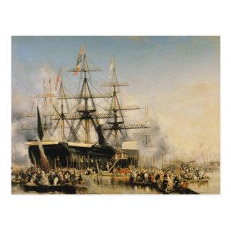 König Louis-Philippe Disembarking an Postkarte