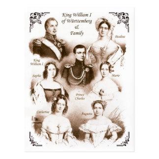 König William I von Württemberg u. Familie Postkarte