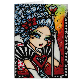 Königin der Herz-Alice-Märchenland-Fantasie Karte
