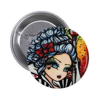 Königin der Herz-Alice-Valentinsgruß-Fee-Fantasie Runder Button 5,1 Cm