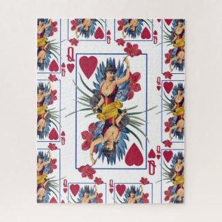 Königin der Herzen und der Blumen Puzzle