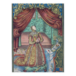 Königin Elizabeth I am Gebet, Frontispiz Postkarte