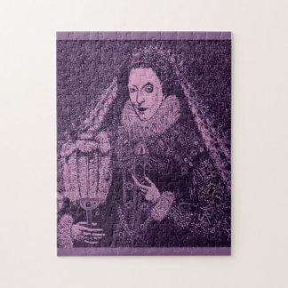 Königin Elizabeth I im Lavendel Puzzle