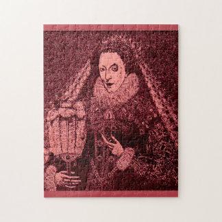 Königin Elizabeth I im Rosa Puzzle