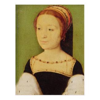 Königin Madeleinedes Frankreich von Schottland, Postkarte