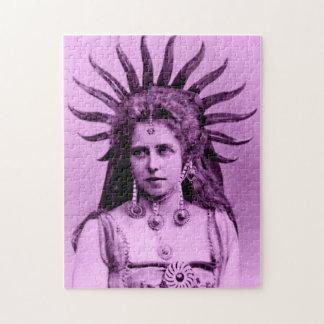 Königin Marie von Rumänien als der Sun-Königin - Puzzle