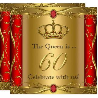 Königin-oder König-Regal Red Gold 60. Karte
