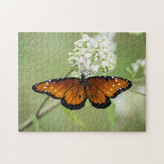 Königin-Schmetterling findet ein Mahlzeit-Puzzlen Puzzle