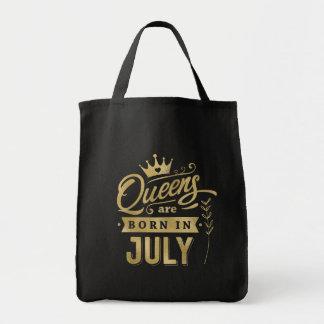 Königinnen sind geborener im Juli Tragetasche