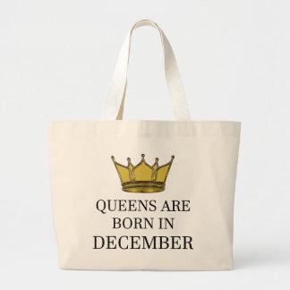 Königinnen sind im Dezember geboren Jumbo Stoffbeutel