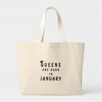 Königinnen sind im Januar geboren Jumbo Stoffbeutel