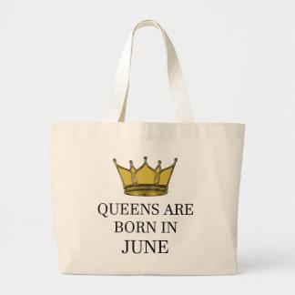 Königinnen sind im Juni geboren Jumbo Stoffbeutel