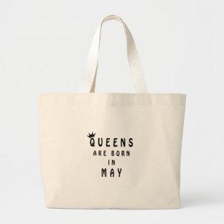 Königinnen sind im Mai geboren Jumbo Stoffbeutel