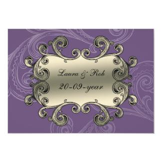 königlich blühen Sie Lila danken Ihnen 12,7 X 17,8 Cm Einladungskarte