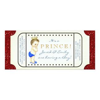 Königliche Babyparty Prinz-Ticket 10,2 X 23,5 Cm Einladungskarte