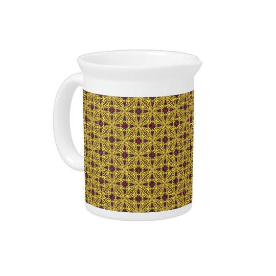Königliche bunte Kaleidoskop-   Porzellan-Krüge Getränke Krüge