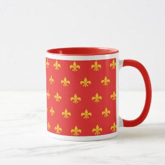 Königliche französische rote Tasse