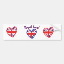Königliche Hochzeit, königliche Liebe, Gewerkschaf Auto Sticker
