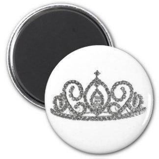 Königliche Hochzeit/Tiara Runder Magnet 5,1 Cm