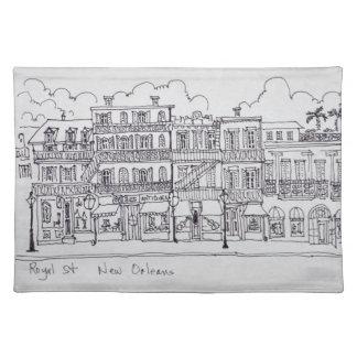 Königliche Straße | New Orleans, Louisiana Stofftischset