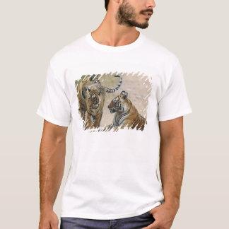 Königlicher bengalischer Tiger und Junge eine, T-Shirt