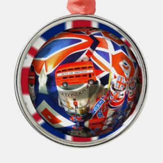 Königlicher London-König Shower Peace Love Destiny Silbernes Ornament