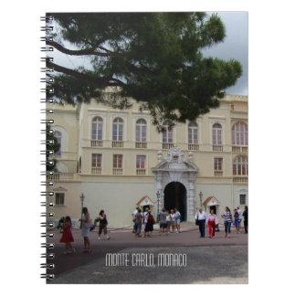 Königlicher Ort von Monaco in Monte Carlo Spiral Notizblock