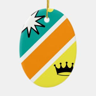 Königlicher Schildvektorillustrations-Clipart Ovales Keramik Ornament