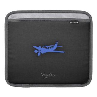 Königliches Blau-kleines Flugzeug Sleeve Für iPads