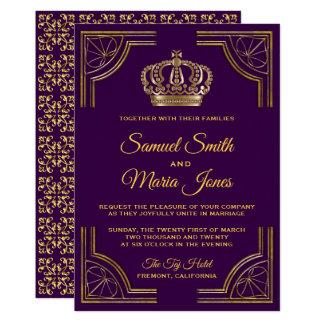 Königliches lila Goldverzierte Karte