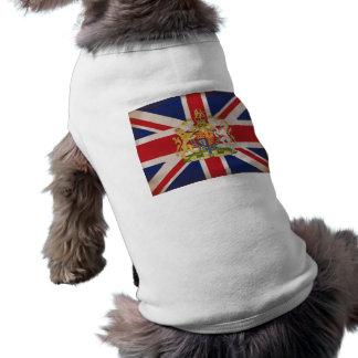 Königliches Wappen auf Gewerkschaft Jack Ärmelfreies Hunde-Shirt