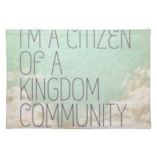 Königreich-Bürger Stofftischset